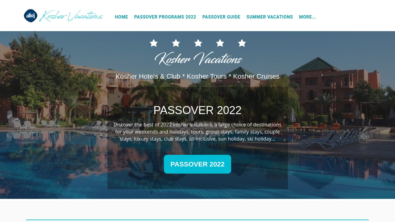 Kosher vacations, find all the trips for kosher cruises and